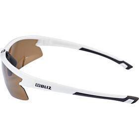 Bliz Motion M5 Glasses shiny white /amber